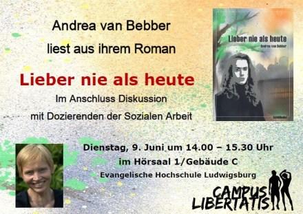Lesung, Andrea van Bebber, Ludwigsburg
